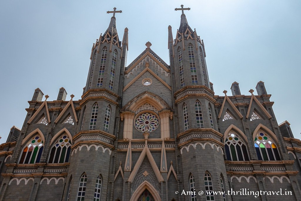 The colonial facade of St Lawrence Church Karkala