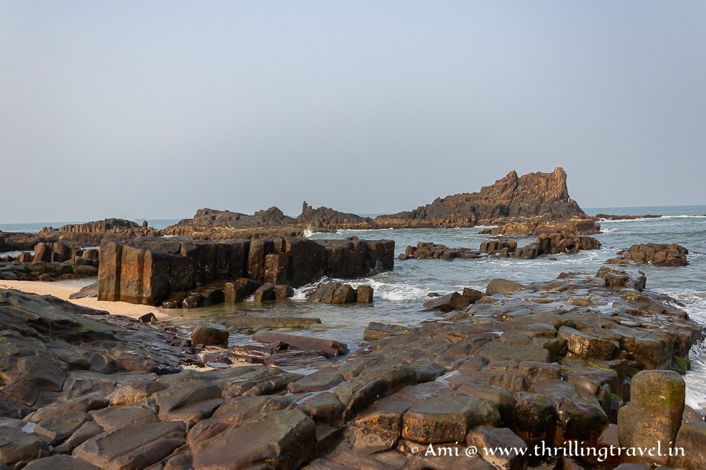 The volcanic rocks that make St Mary's island Malpe a national geological monument