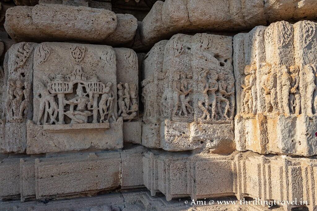 Carvings on the Rukmini Devi Temple Dwarka
