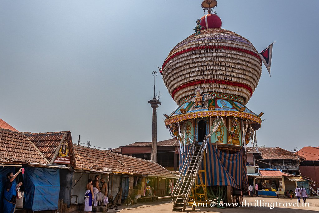 One of the chariots used during the Udupi Krishna temple festivals