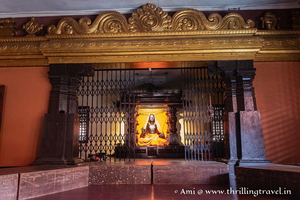 The idol of Sri Madhvacharya in Udupi Krishna Temple