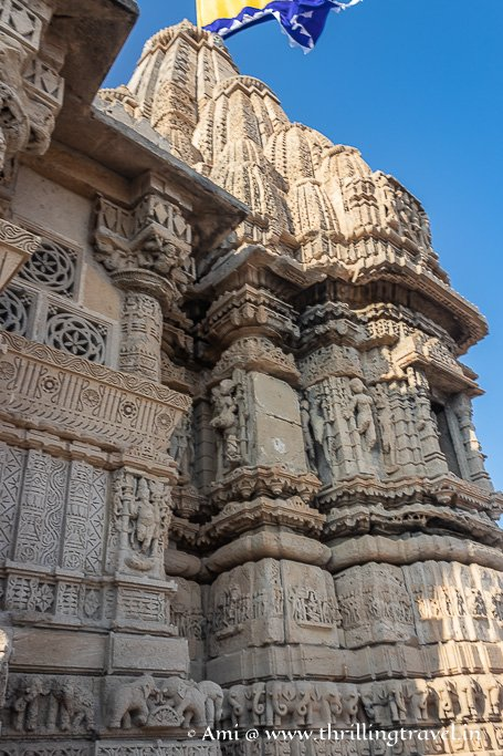 Gajadhara, narathara and other stories carved in stone on the Rukmini Temple Dwarka