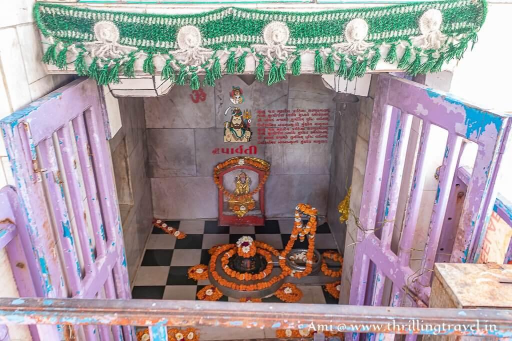 The linga in Bhadkeshwar Mahadev Temple
