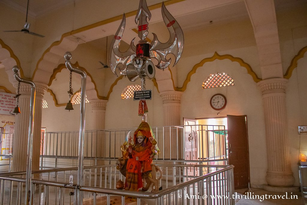 The Durga idol in the Nageshwar temple in Gujarat