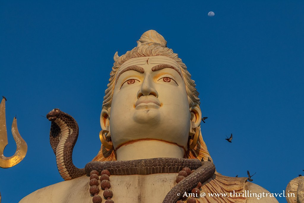 The calm but intense demeanor of Lord Shiva at Nageshwar Jyotirlinga