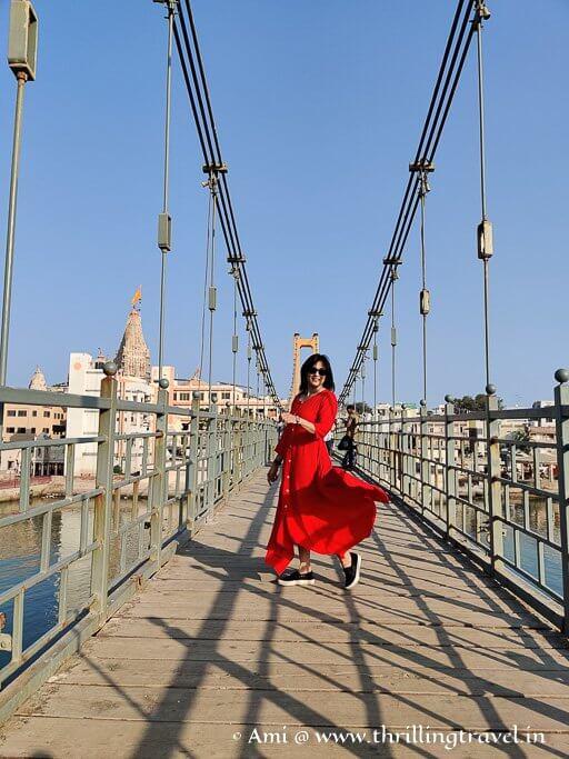On the Sudama Setu bridge in Dwarka