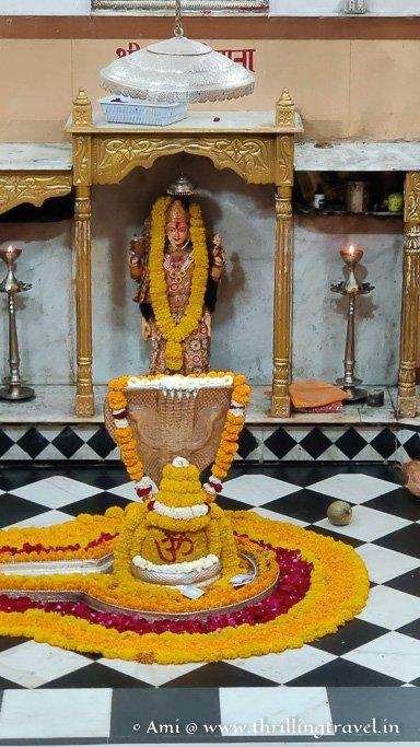The Garba Griha or the inner sanctum with the actual jyotirlinga at Nageshwar temple