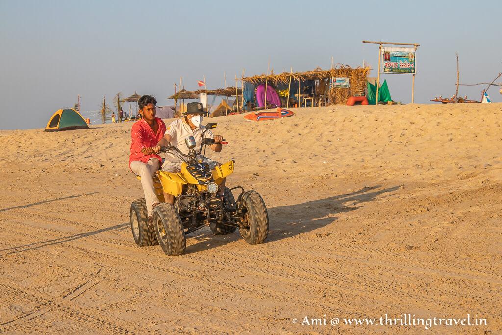ATV rides on Shivrajpur beach