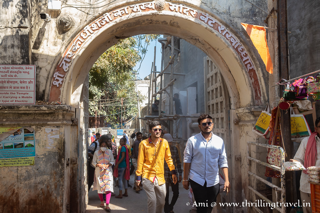 The Bet Dwarka Temple - an important pilgrimage place for the Hindus