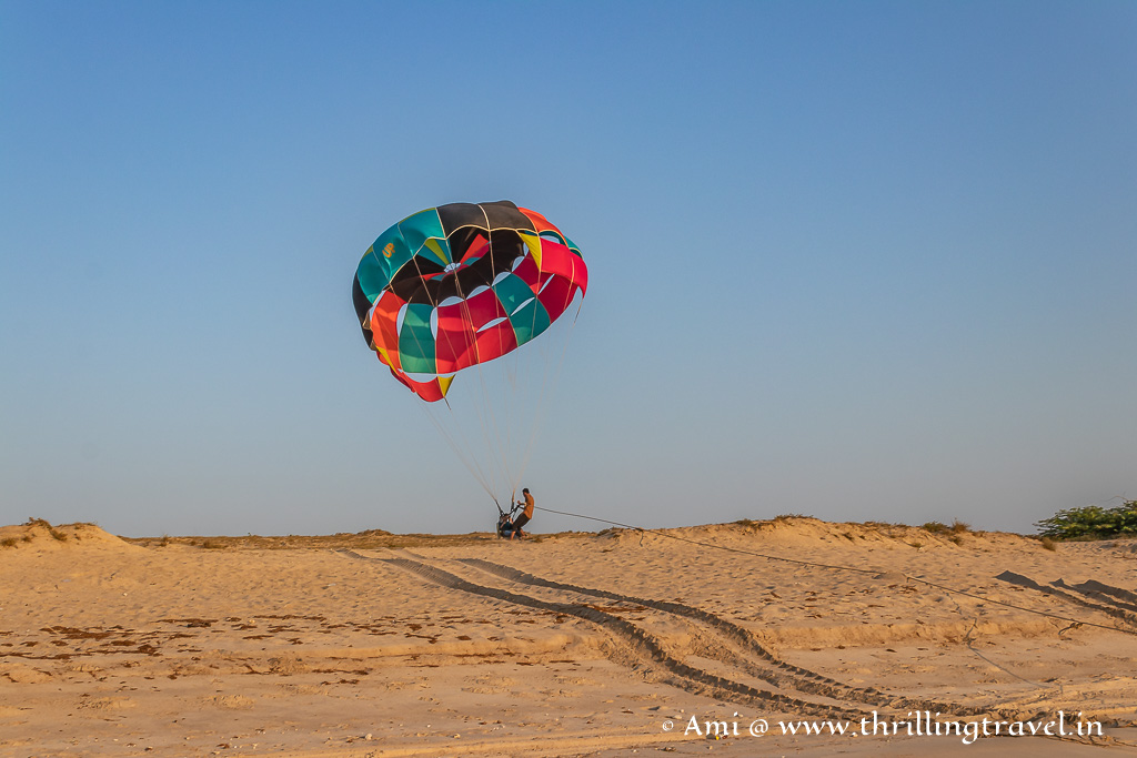 Parasailing on Dwarka Shivrajpur beach
