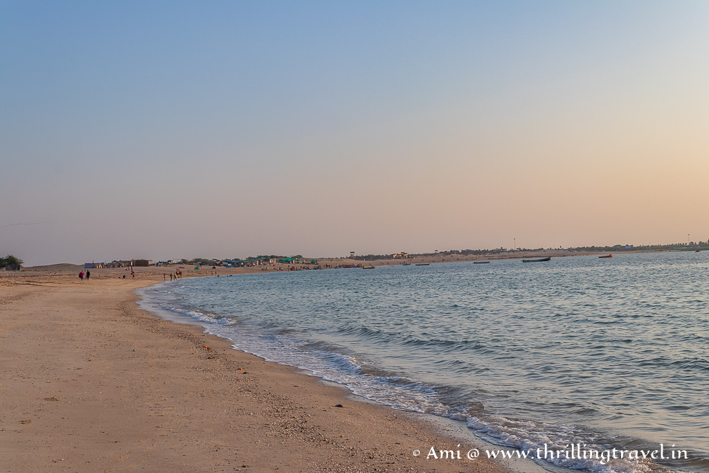 Walking along the Shivrajpur beach - one of the must-do things here