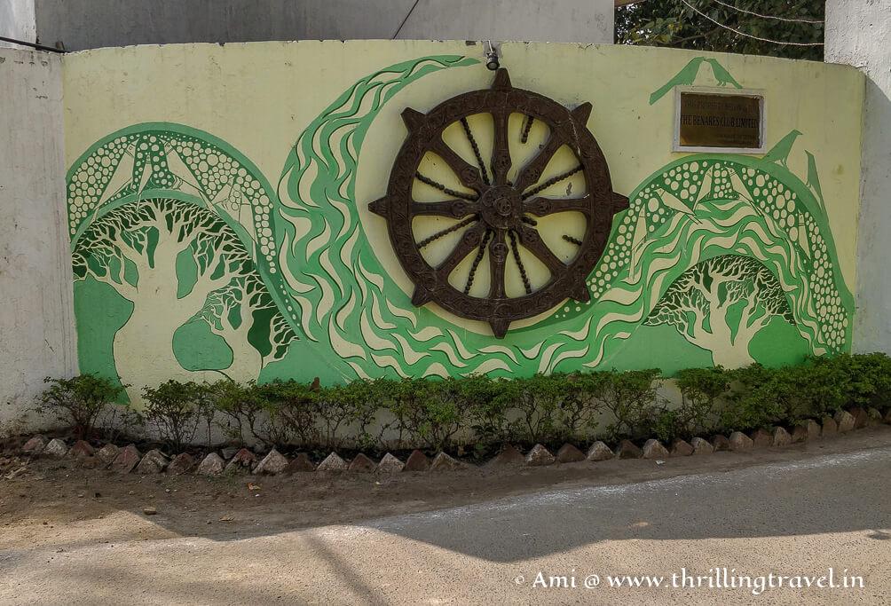 Props used on the Varanasi street art