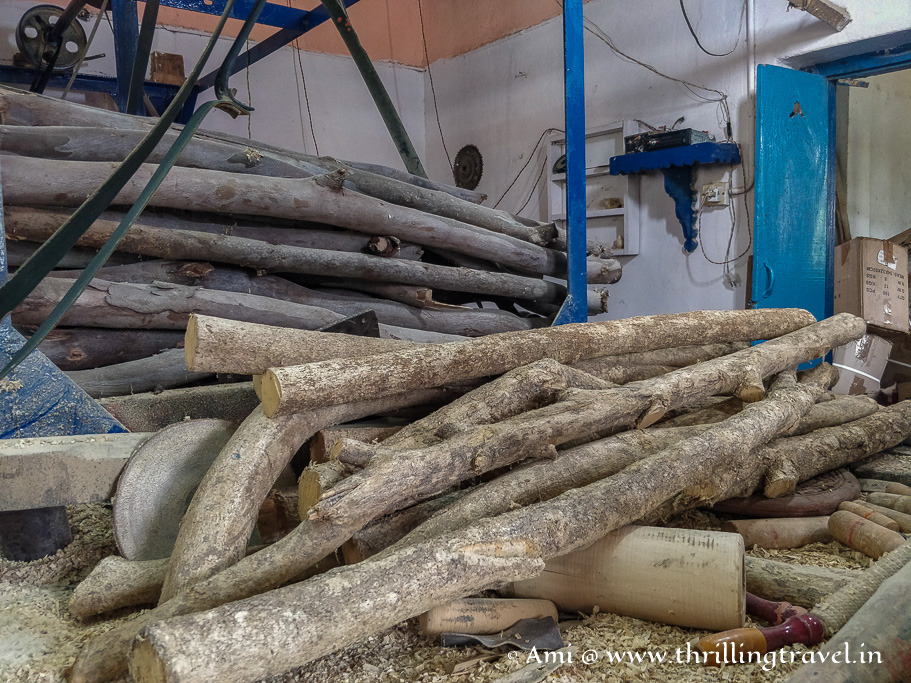 Aale Maara wood used for Channapatna toys making