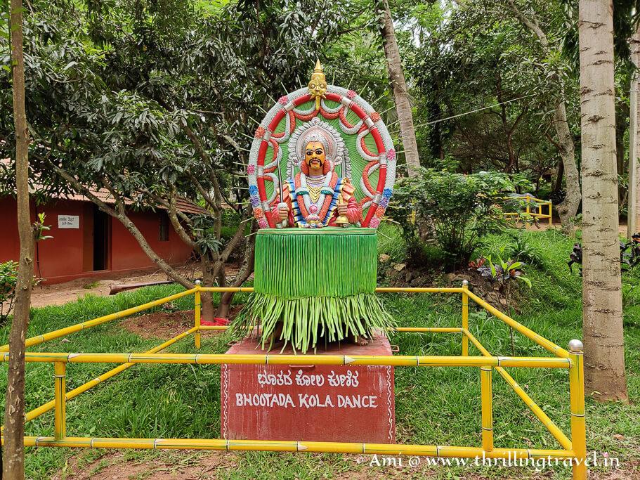 A representation of the Bhuta Kola dance  - a folk dance from Tulunadu part of Karnataka