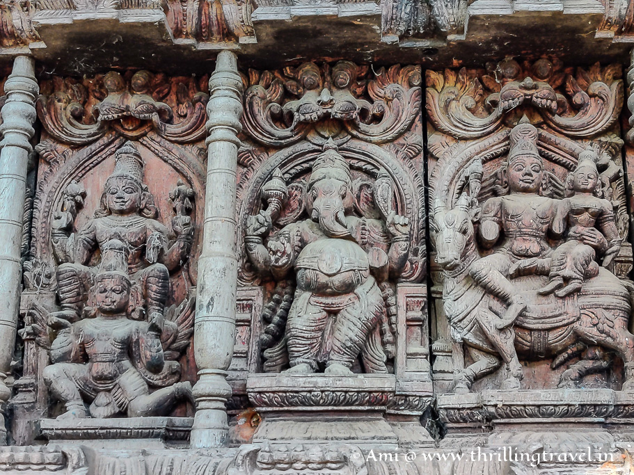 Some more carvings on the temple chariot