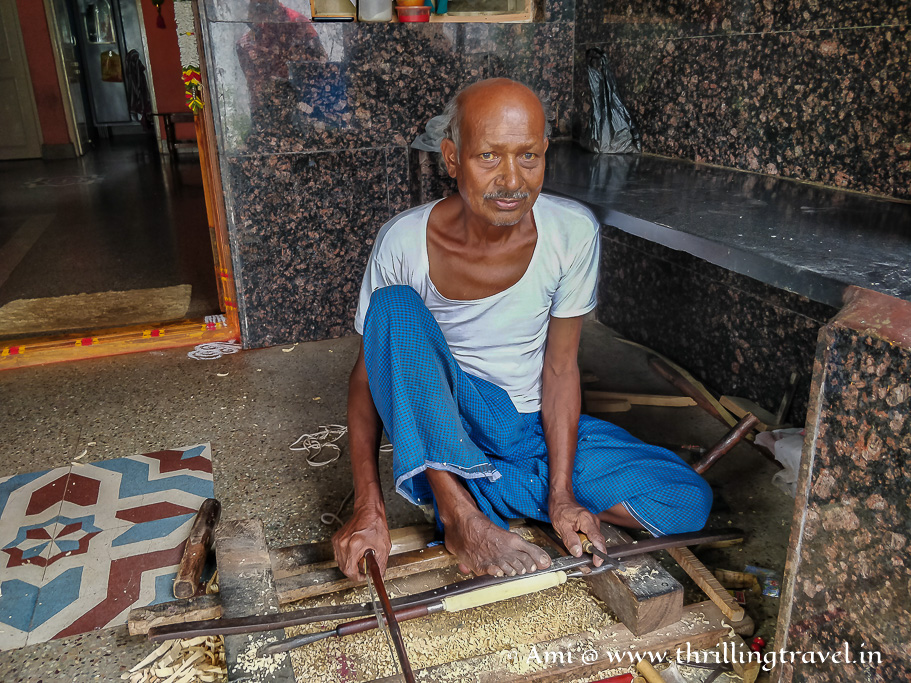 One of the oldest craftsman in Channapatna