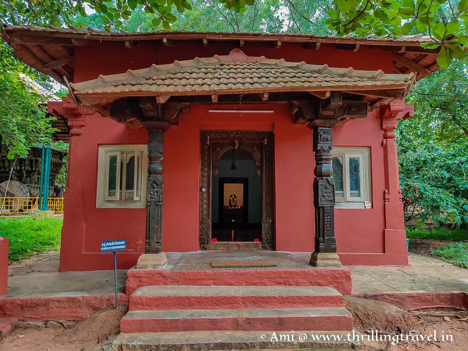 The Ganesha temple in Shilpamala area of Janapada Loka