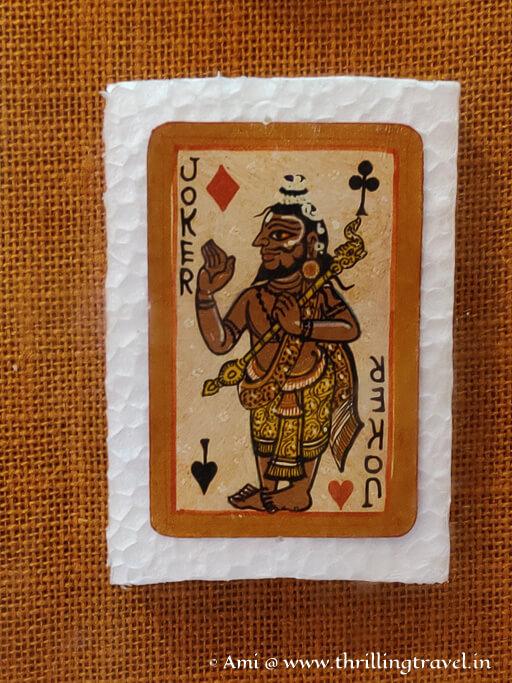 Ganjif playing cards in Lokamahal