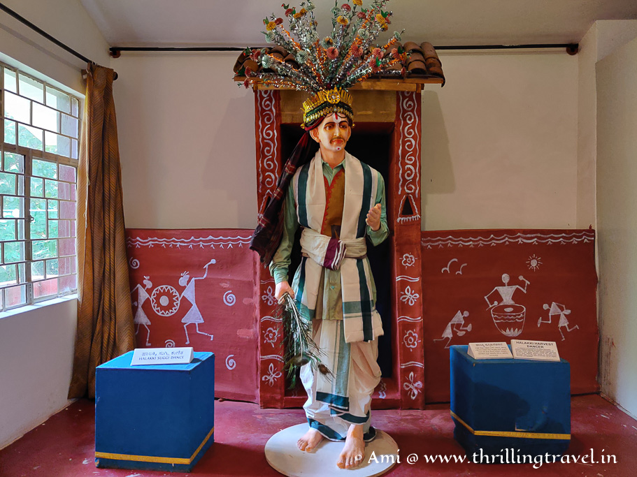A statue of Hallaki - a harvest dancer kept in Loka Mahal