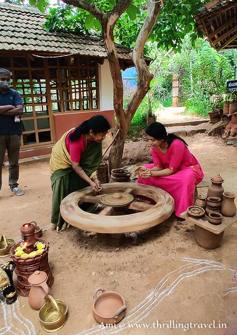 Janapada Loka pottery making section