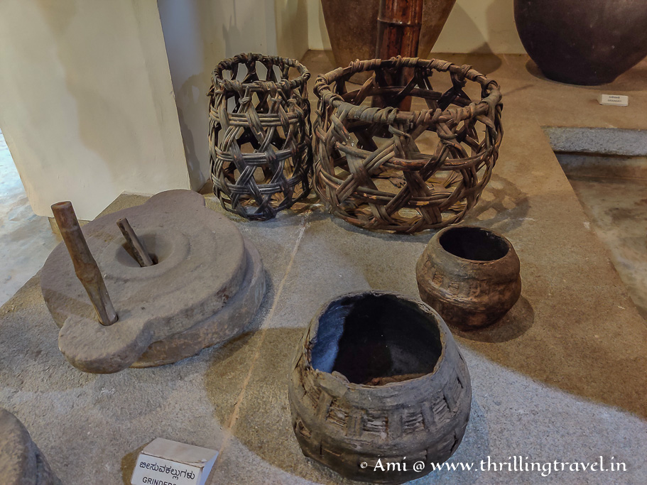 Some of the kitchen equipment on display in the Lokamata museum