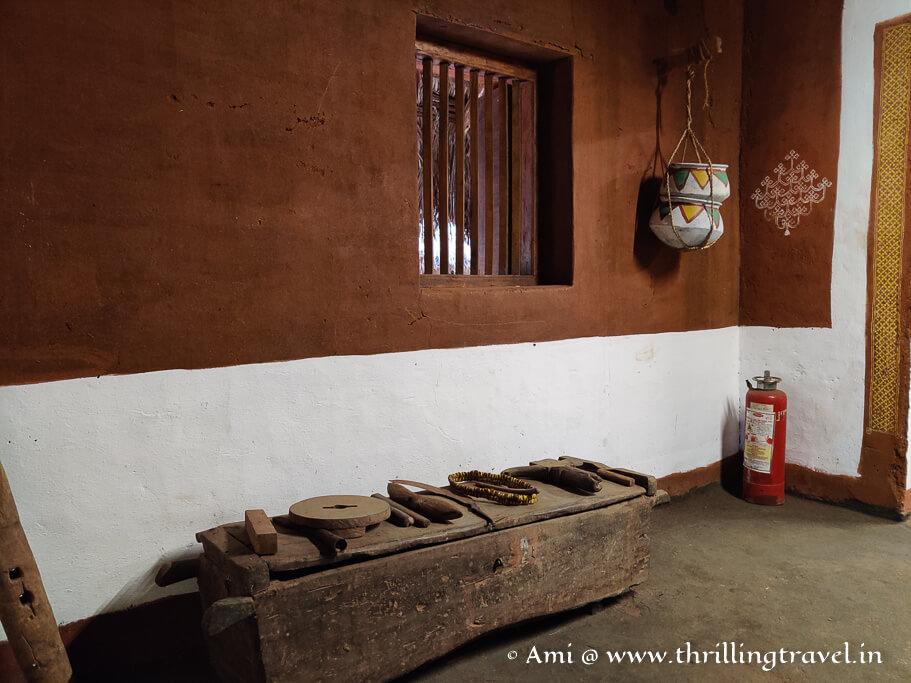 The kitchen area inside the Malenadu Mane