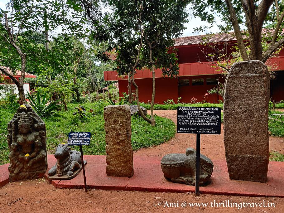 Hero stones and inscription pillars in the Shilamala area