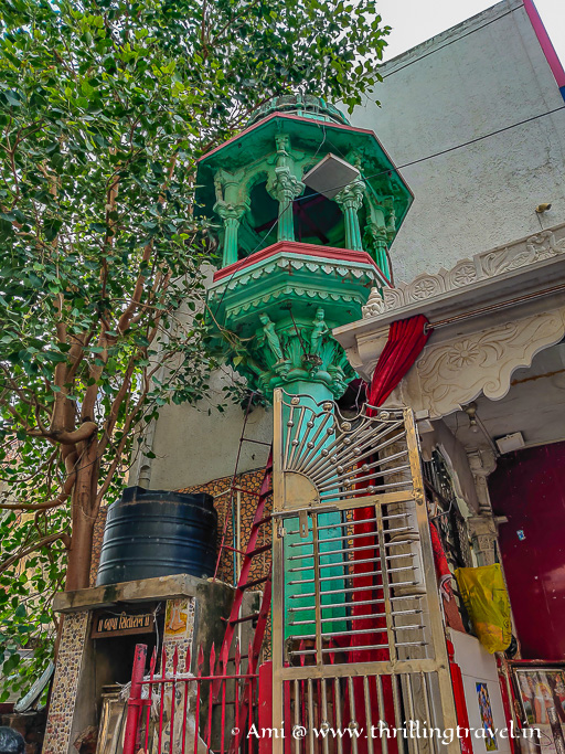 Chabutara - a traditional bird feeder that is a part of every Pol in Ahmedabad