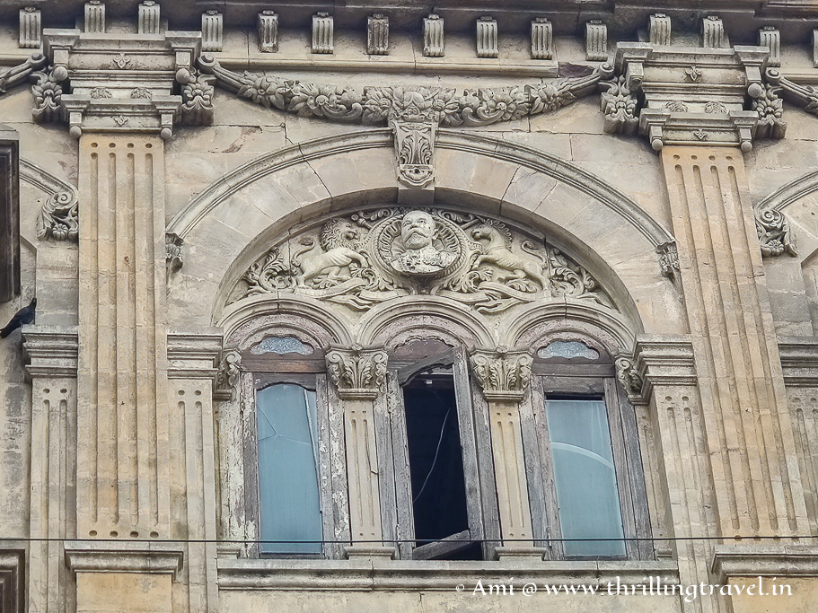 King George as seen on the facade of Ahmedabad stock exchange
