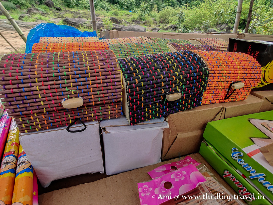 Some Dang bamboo artifacts that you can buy in Saputara