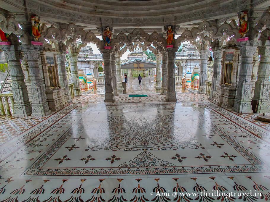 The marble floors of the Jain Temple in Saputara