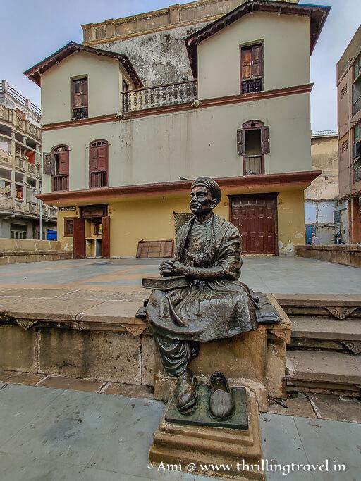 Kavi Dalpatram chowk - one of the stops on Heritage walk Ahmedabad