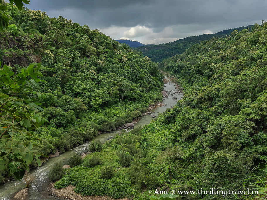 River Gira flowing away from the waterfalls
