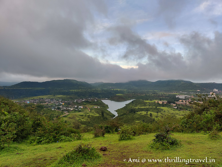 The view of the lake from Saputara sunrise point