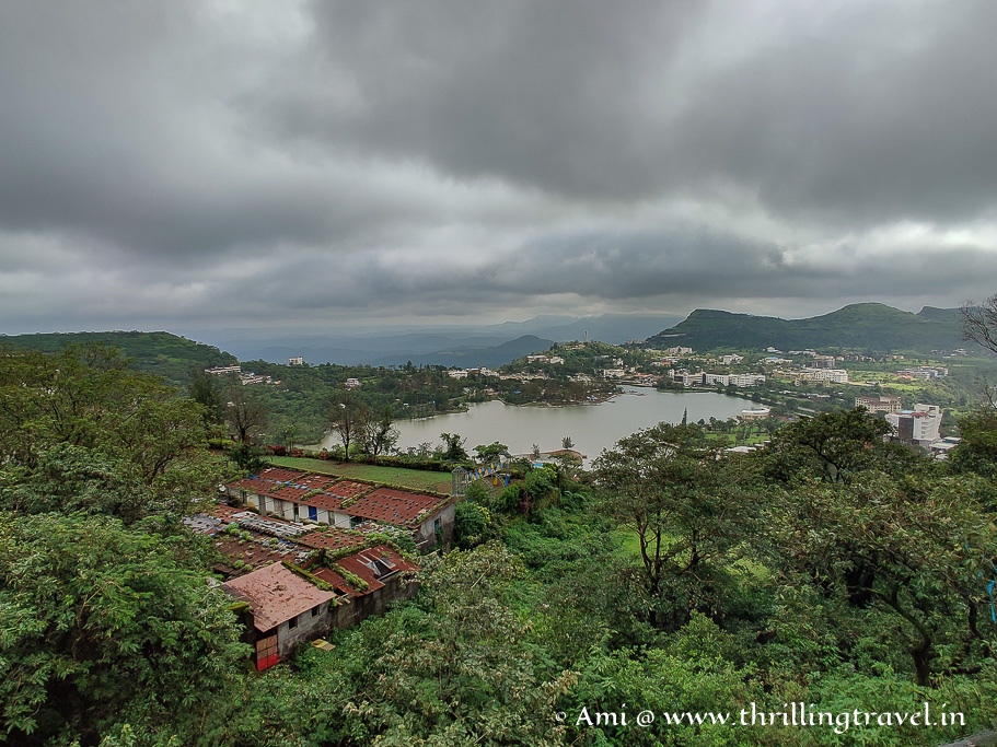 A glimpse of Saputara lake from Table point
