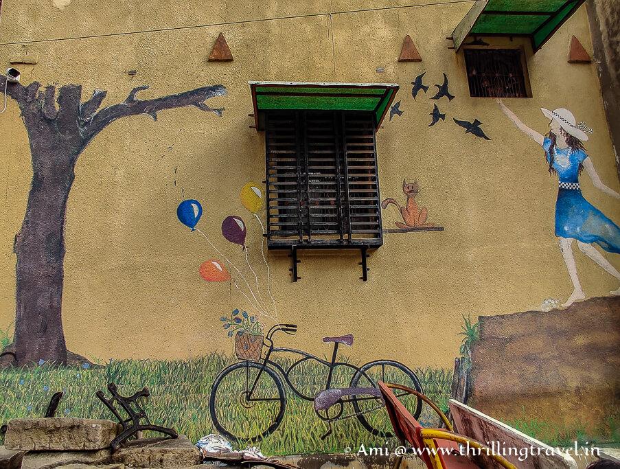 Street art seen at the Shantinath Ni Pol