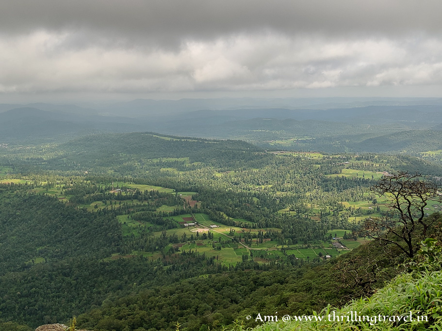 View of Dang forest and tribal villages from Saputara Sunset point