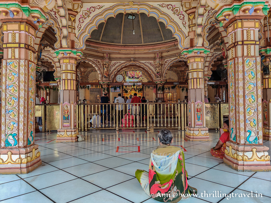 Inside Swaminarayan temple in Kalupur, Ahmedabad