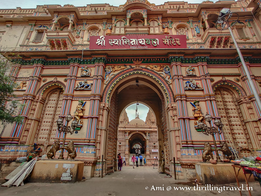 The start of my heritage walk in Ahmedabad - Swaminarayan temple in Kalupur