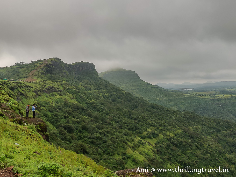 View of the valley along the border of Gujarat and Maharashtra from the Saputara Table Point