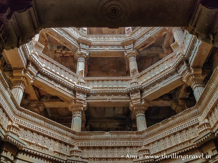 The Indo Islamic  architecture of Adalaj stepwell