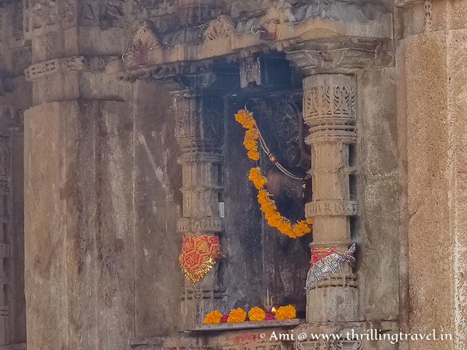 A glimpse of Amba Mata's idol in Adalaj stepwell