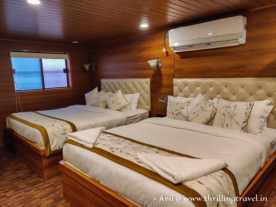 The family suite on the White Pearl cruise in Gokarna