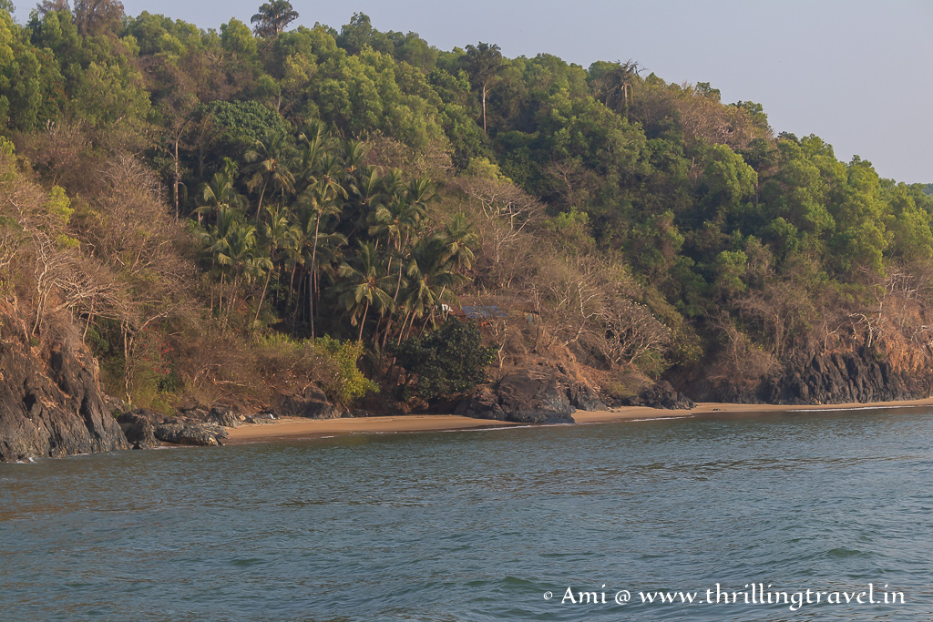 Kirabele beach - one that was apparently used by Tipu Sultan