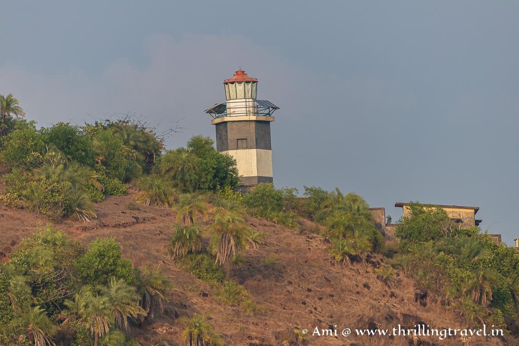 Tadadi lighthouse spotted during the Gokarna sunset cruise