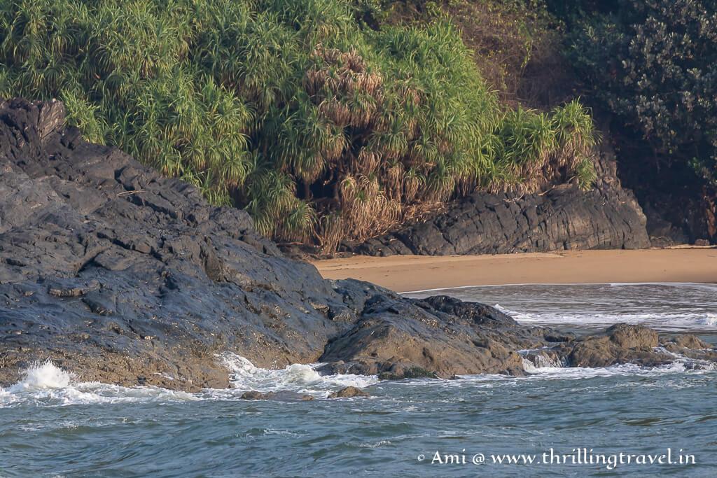 Gokarna shore as seen during the Sunset cruise