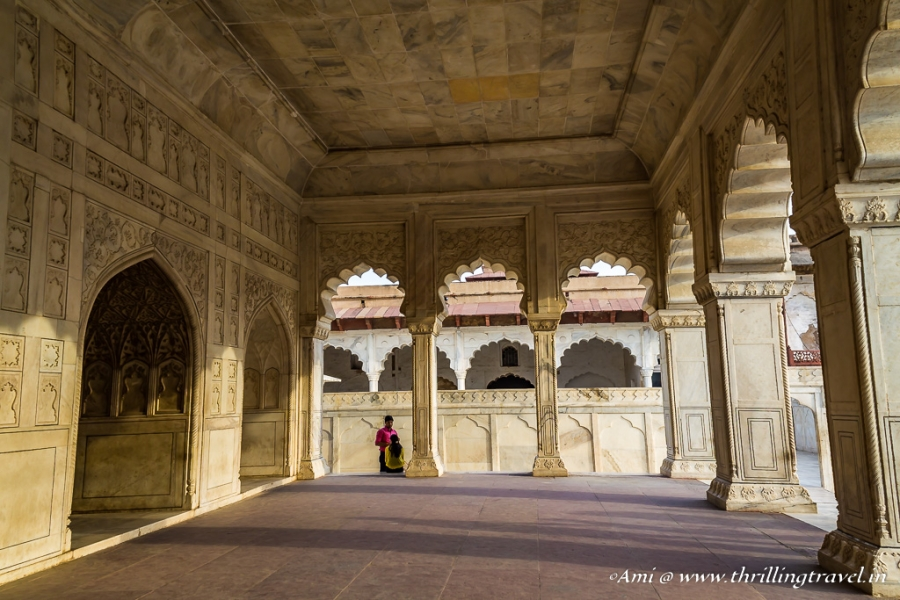 The outer Verandah of the Khas Mahal in Agra Fort