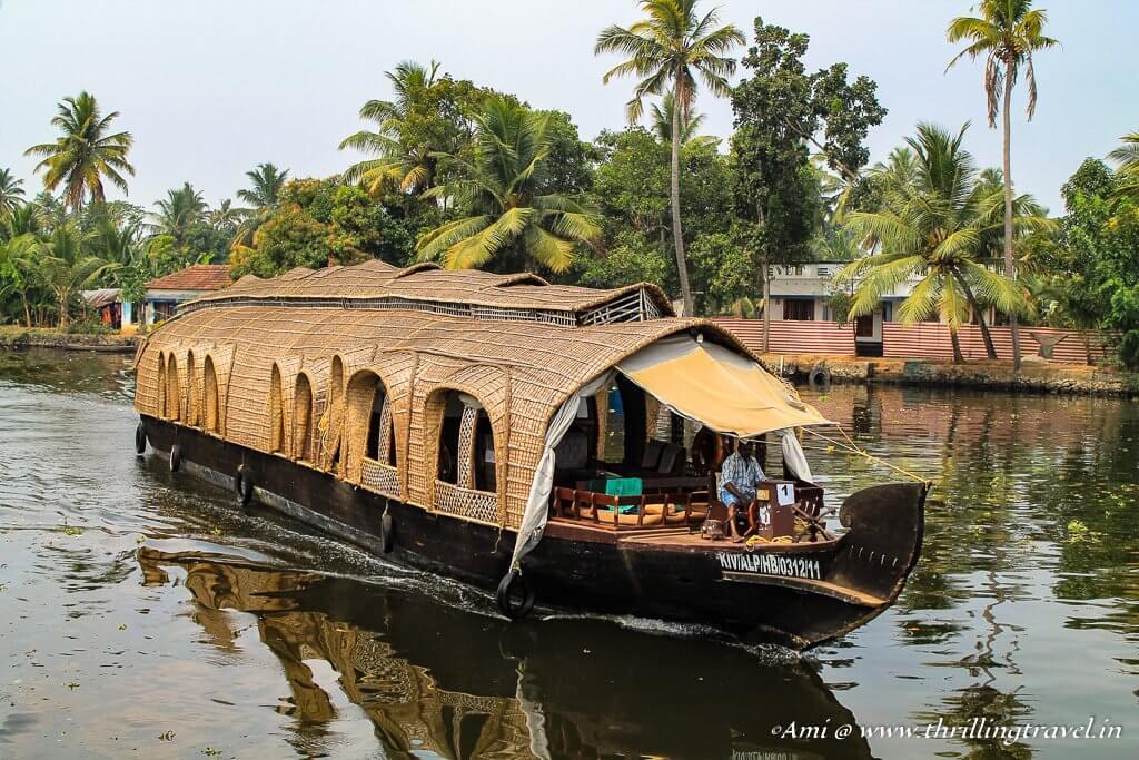 Houseboats along the Backwaters of Kerala